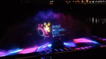 数谷之夜:水幕表演进行实景彩排 526架无人机点亮贵阳夜空