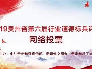 快来!给2019贵州省第六届行业道德标兵候选人投票