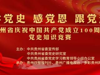 """""""贵州省庆祝中国共产党成立100周年党史知识竞赛""""正式启动"""