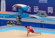 贵州老将邓书弟自由体操摘银!